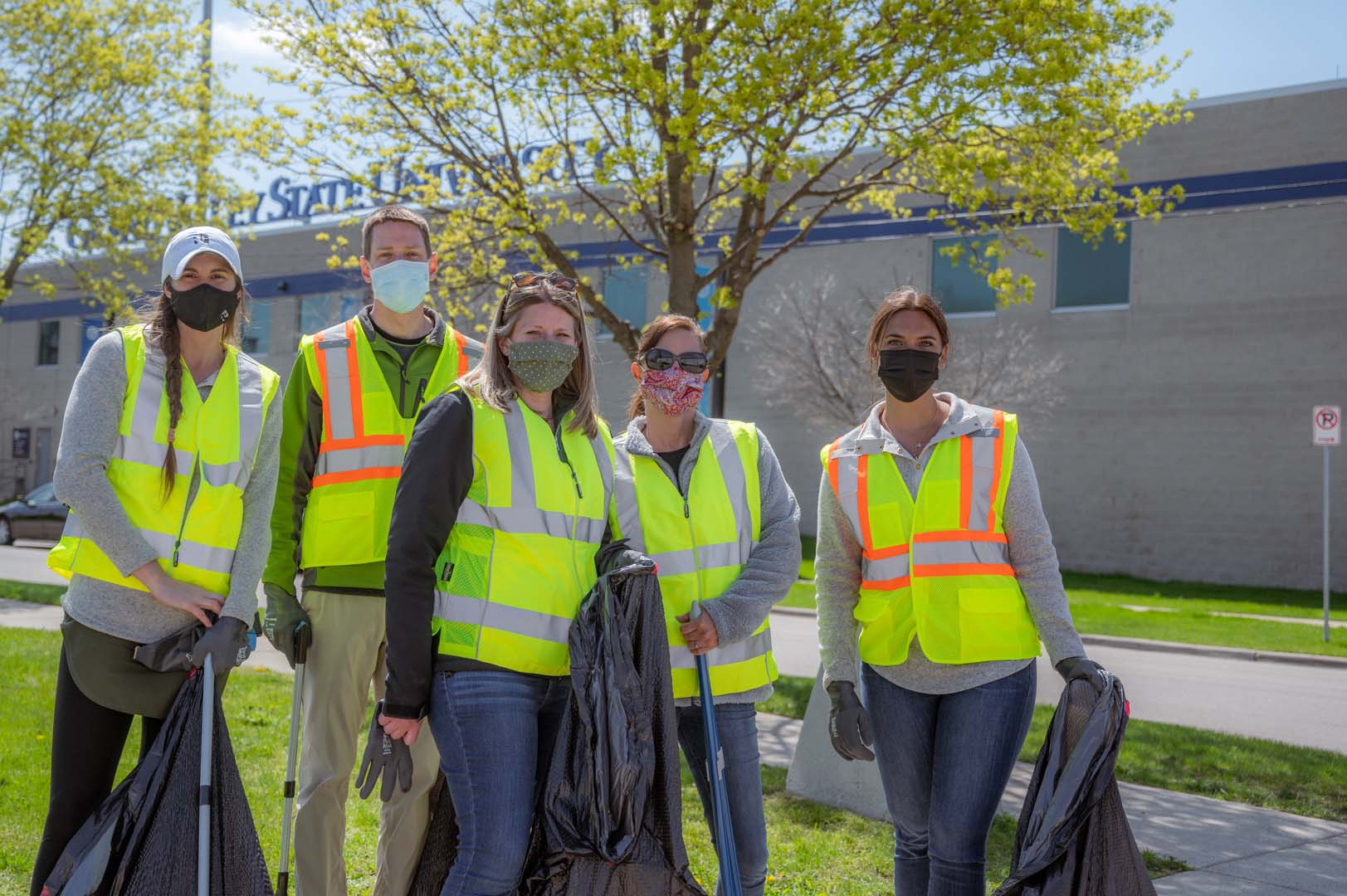 Rockford team members cleaned up trash across the West Side during a neighborhood clean-up event on April 16.